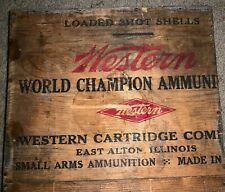 1950s Western Wooden Ammo Custom Dividers Trench Art Display Champion Ammunition