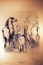 ESTAMPE photo Hypérion1939 Marcel VERTES Fiançailles, Louis-Joseph SOULAS Rivièr