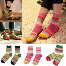 Retro Women Ankle Socks Ladies Casual Cotton Socks Cute Striped High Sock Gift