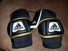 Bnwt Adidas Freak Flex Men's Lacrosse Elbow Pads Ce8553 Black White Gold size Xl