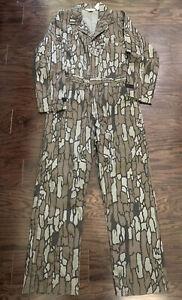 Vintage Walls Camo Camoflage Treebark Hunting Suit Coveralls Mens Sz Medium Vtg