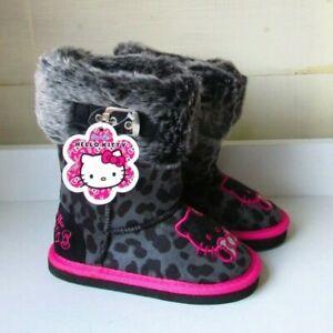 Kids Girls BNIB Hello Kitty Leopard Print Snugg Boot Size C10 UK Only