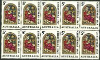 Australia 1969 Last MNH Stamps Block 10x 5c Christmas Nativity variety Issues