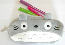 Cute Totoro Pencil Case Plush Pen Small Bag Miyazaki Kid's Stationery