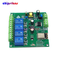 AC/DC ESP8266 ESP-12F WIFI 4 Channels Relay Module Development Board