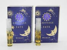 2 x Amouage Fate Woman EDP 2ml Vial Sample New With Card
