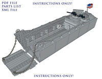 Lego Custom WWII Higgins Boat LCVP - INSTRUCTIONS ONLY! INCLUDES A PARTS LIST!!!