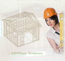 12X12 ORIGINAL GABLE ROOF BACKYARD SHED CABIN PLANS, WITH 3D PDF CUSTOM VIEWS CD