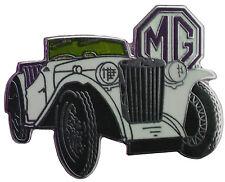 MG TC MGTC car cut out lapel pin  - Creme