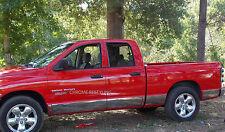 CHROME ROCKER PANELS FOR DODGE RAM QUAD CAB SHORT BED 2002-2005 W/O FLARES