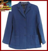 Dialogue Blazer Jacket Cashmere Wool Blend Lined Career Blue QVC 6 New NWT