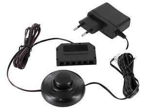 12V MINI-AMP - LED Netzteil Trafo SET 1,8W + Fuß Schalter + 6-fach-Verteiler
