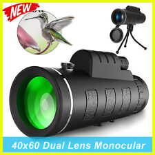 2019 NEW WATERPROOF 40X 60mm HIGH DEFINITION MONOCULAR TELESCOPE WITH TRIPOD