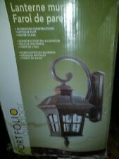 Antique Rust Water Glass Portfolio Outdoor Wall Lantern #253339 new in box
