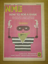 NME 1985 NOV 23 COMPUTER CRIME MICRODISNEY SONIC YOUTH THE CLASH