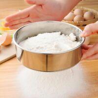 Stainless Steel Fine Mesh Oil Strainer Flour Colander Sieve Sifter Kitchen Tools