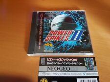 NEO GEO CD POWER SPIKES 2 SNK NEOGEO