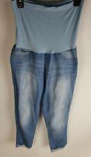 Anklet maternity jeans  pull on  stretch Jeans/ capri Size L.