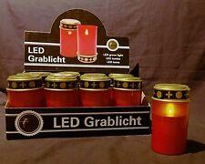 2 St. LED Grablichter Grablicht Grabkerzen Grablichtkerze Kerze Grableuchte 12cm