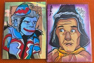 "Breygent  Wizard of Oz Sketch Card  Rich  Molinelli   2 card set ""set 2""  sale"