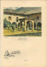 Stampa antica BORGO DI TERZO Pozzo Convento San Michele Borgounito Bergamo 1936