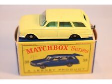 Matchbox Lesney No 38 Vauxhall Victor Estate Car BPW green interior mint in box