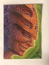 Alex Grey Shpongled Blotter Art Tool Signed and Numbered 44/125 LSD Poster Print