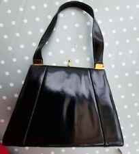 Original Vintage 1960'S Ladies Handbag Black
