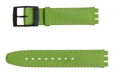 Original Swatch 17mm Leder Armband Excentric ASCB117 Neuware