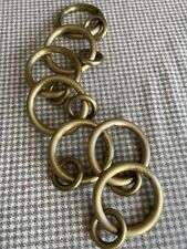 Brushed Brass curtain rings - 7 sold together