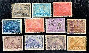1898 US Stamps #R162-R172 Revenue BattleShip Short Set