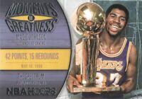 2014-15 NBA Hoops Basketball Moments of Greatness #12 Magic Johnson LA Lakers