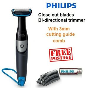 Cordless Body Shaver Mens Arms Legs Chest Shaving Grooming Kit with Trimmer 3mm