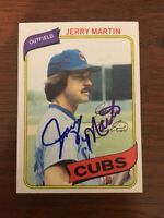 JERRY MARTIN 1980 TOPPS AUTOGRAPHED SIGNED AUTO BASEBALL CARD 493 CUBS