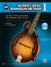 """Alfred's Basic Mandolin Method 1"" Music Book/Cd-Brand New On Sale-Instructional"