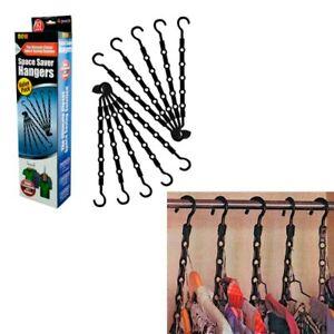 10 Pc Space Saver Hangers Closet Organizer Pants Rack Magic Hangers 5 In 1 New !