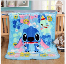 Hot Lilo & Stitch Throw Blanket Warm Flannel Soft Plush Bedding Rug 100X140CM