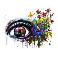 Framed Multi-colored Eye Print By Numbers Kit Canvas Painting Home Decor Xmas