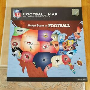 """MasterPieces NFL """"United States of Football""""  500 Piece Jigsaw Puzzle  24""""×18"""""""