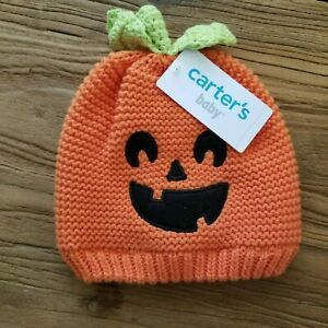 Carter's Baby Halloween Pumpkin Knit Hat (Orange Size 3-9 months)
