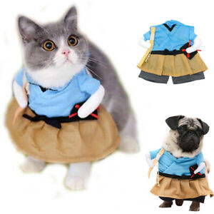 Small Dog Costume Funny Party Cosplay Clothes Pets Puppy Cat Jacket Outfit S-XL