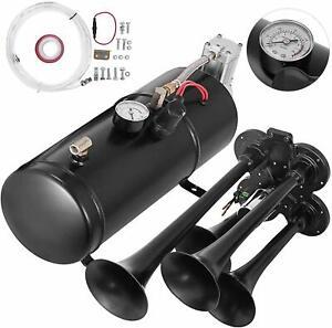 150DB 4 Trumpet Train Horn Kit 150 PSI Air Compressor for Car Truck 12V**