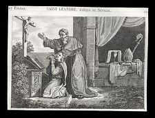 santino incisione1800 S.LEANDRO V. DI SIVIGLIA