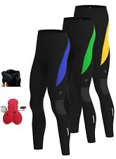 Mens Cycling Tights Winter Thermal Cold Wear Gel Padded Legging Cycling Trouser