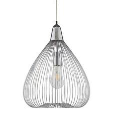 Suspension Luminaire Lampe à Drahtschirm Chrome Led Compatible Pendant