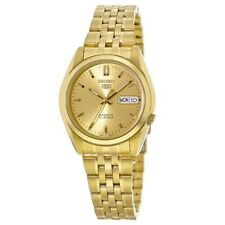 New Seiko 5 Automatic Gold Tone Stainless Steel Men's Watch SNK366K1