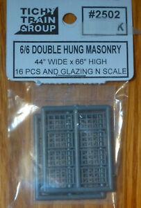 Tichy Train Group N-Scale #2502 6/6 Double Hung Masonry