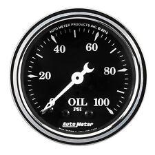 AutoMeter 1721 Old Tyme Black Mechanical Oil Pressure Gauge