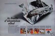 PUBLICITÉ 1968 ALBAL LA FEUILLE D'ALUMINIUM VITE PROPRE NET - ADVERTISING