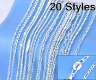 Sterling Silver High Quality Thin Chains 925 Silver 20 Styles Stunning Sterling